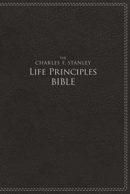 NIV, The Charles F. Stanley Life Principles Bible, Imitation Leather, Black, Indexed  -     Edited By: Charles Stanley