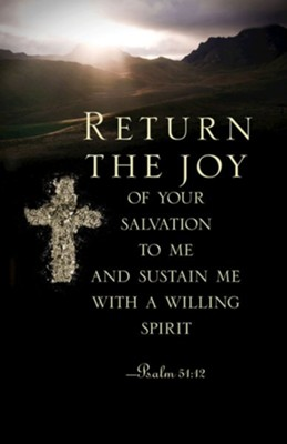 Return the Joy Ash Wednesday Bulletin (Pkg of 50)  -