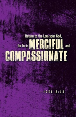 Merciful and Compassionate Lenten Bulletin (Pkg of 50)  -