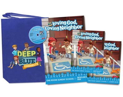 Deep Blue Connects: Loving God Loving Neighbor One Room Sunday School Kit, Fall 2019  -