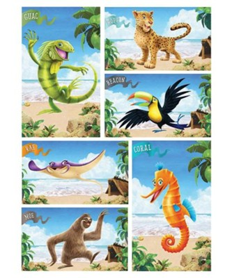 Shipwrecked: Giant Bible Memory Buddy Posters (set of 6)  -