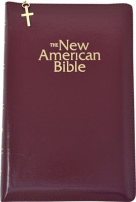 NAB Gift Bible, Imitation Leather, Burgundy with zipper  - Slightly Imperfect  -