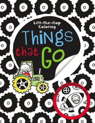 Big Busy Coloring Lift the Flap: Things That Go  -