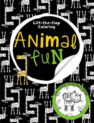 Big Busy Coloring Lift the Flap: Animal Fun  -
