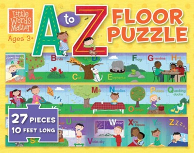 Little Words Matter A to Z Floor Puzzle, 27 Pieces  -