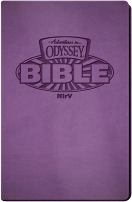 NIrV Adventures in Odyssey Bible (Purple Italian  Leatherette)  -     By: Sergio Cariello     Illustrated By: Gary Locke