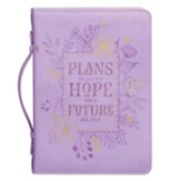 Plans to Give You Hope and a Future Bible Cover, LuxLeather, Purple, Large