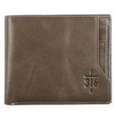 John 3:16, Cross, Wallet, Brown