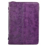 Faith, Hebrews 11:1, Bible Cover, LuxLeather, Purple, X-Large