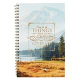 I Can Do All Things Through Christ Wirebound Notebook
