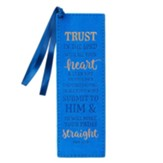 Trust In the Lord With All Your Heart Bookmark, LuxLeather, Blue