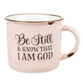 Be Still and Know That I Am God Camp Mug, Pink with Chips