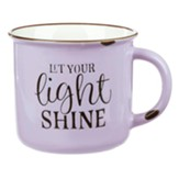 Let Your Light Shine Camp Mug, Purple with Chips