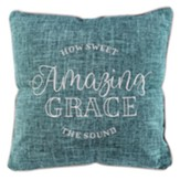 Amazing Grace Pillow, Teal