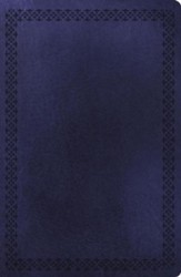 NKJV Large Print Ultraslim Reference Bible, Leathersoft Rich Navy