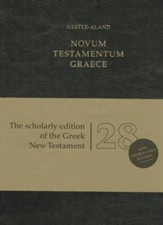 Novum Testamentum Graece, Nestle-Aland 28th Revised  edition - Imitation Leather, Black