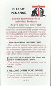 Rite of Penance Card for the People, Pack of 25