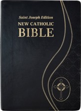 St. Joseph New Catholic Giant-Print Bible--soft leather-look, black