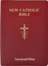 St. Joseph New Catholic Giant-Print Bible--soft leather-look, red