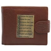I Know the Plans Genuine Leather Wallet, Brown