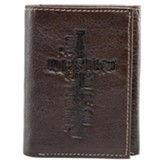 Jesus Cross Genuine Leather Wallet, Brown