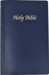 NAB First Communion Bible, Imitation leather, Navy blue  - Slightly Imperfect
