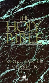 KJV Text Bible, Paper, Green Marble