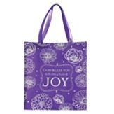 God Bless You With Every Kind of Joy Tote Bag, Purple