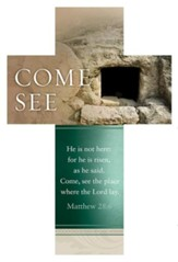 Come See (Matthew 28:6, KJV) Cross-Shaped Bookmarks, 25