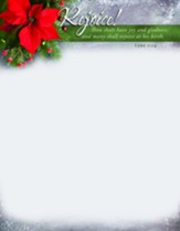 Rejoice! Many Shall Rejoice At His Birth (Luke 1:14, KJV) Letterhead, 100