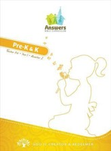 Answers Bible Curriculum Year 1 Quarter 2 Preschool Teacher Kit with Student Sheets