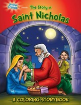 The Story of Saint Nicholas, A Coloring Storybook
