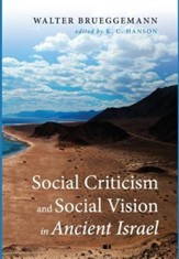 Social Criticism and Social Vision in Ancient Israel [Hardcover]