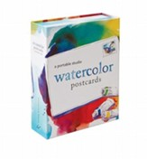 Watercolor Postcards: A Portable  Studio [With 10 Postcards and Paint Brush and 4 Paint Tubes]