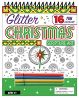Glitter Christmas Scripture Art: 16 Fun Designs