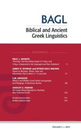 Biblical and Ancient Greek Linguistics, Volume 3