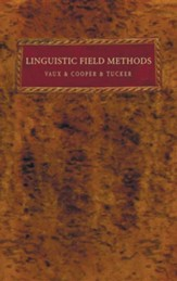 Linguistic Field Methods