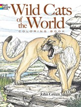 Wild Cats of the World Coloring Book