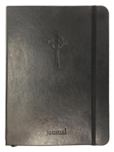 Celtic Cross Essential Journal, Black LeatherLuxe ®