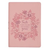 Faith Plants the Seed Journal, LuxLeather Pink