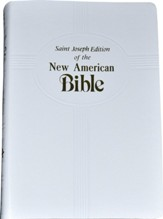 St. Joseph, NAB Gift Edition, Medium Size White Imitaion Leather