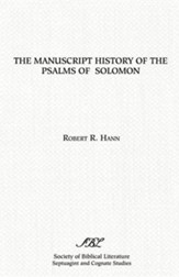The Manuscript History of the Psalms of Solomon