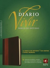 NTV Biblia de estudio del diario vivir, SentiPiel cafe/cafe claro, NTV Life Application Study Bible--soft leather-look, brown/tan (indexed)