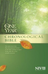 The One Year Chronological Bible NIV, Hardcover  - Slightly Imperfect