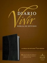Biblia Diario Vivir RVR 1960, Piel Imit. Negro/Onice  (RVR 1960 Life Appl. Bible, Imit. Leather Black/Onyx) - Slightly Imperfect