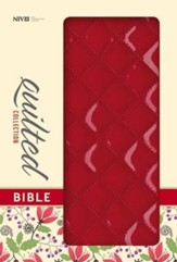 NIV Quilted Collection Bible, Italian Duo-Tone, Cherry - Slightly Imperfect
