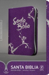 NTV Santa Biblia Edicion ziper, Purple Imitation Leather with Zipper