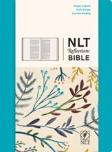 NLT Reflections: The Bible for Journaling, Fabric Hardcover Teal