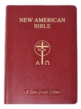 Saint Joseph Giant Print Bible-NABRE New American  Bible Edition, Imitation Leather, Red