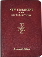 New American New Testament Bible, Bonded Leather, Red